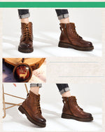 Load image into Gallery viewer, McSimone Leather Boots - Iguana