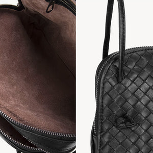 Hutton Woven Leather Bag - Iguana