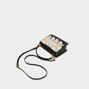 Hutton Crossbody Leather Bag - Iguana