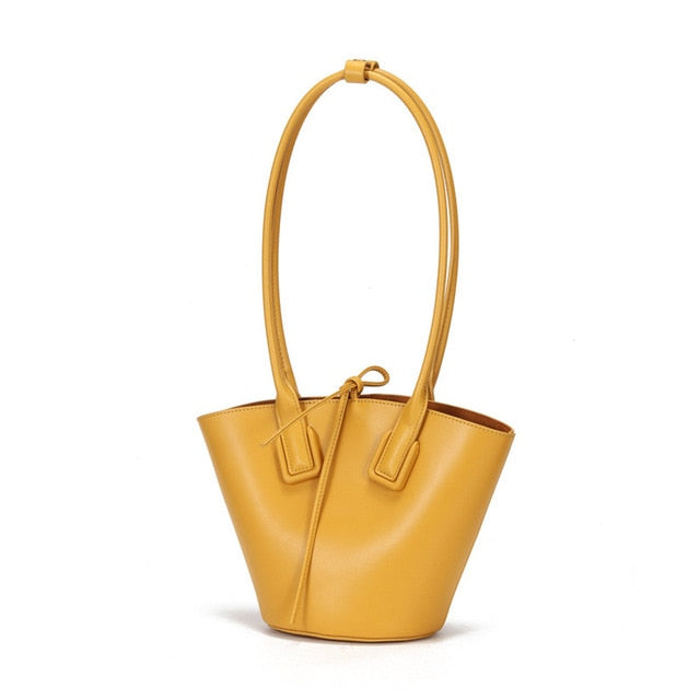 Hutton Leather Bucket Bag - Iguana