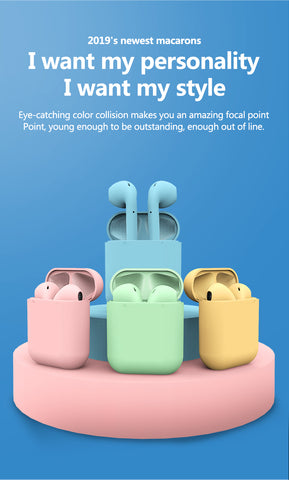 Bluetooth wireless headset Macaron 12 5.0 HIFI Macaron headset