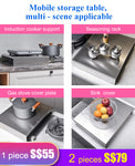 201 Stainless Steel Hearth Cover Plate Mobile Storage Table