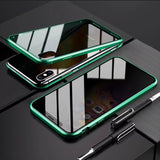 Anti Peep Privacy Magnetic Glass Phone Cover For iPhone 7 8 Plus X XS XR