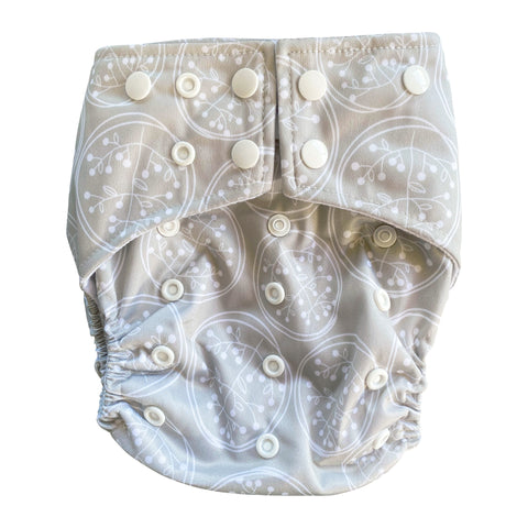 Dandelion Pocket Cloth Diaper Set with 1 Hemp Insert and 1 Bamboo Cotton Insert