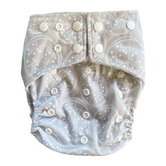 Dandelion Pocket Cloth Diaper Set with 1 Hemp Insert and 1 Bamboo Cotton Insert - Bungies Diapers