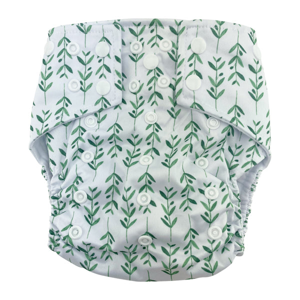 Grow Baby Grow Pocket Cloth Diaper with 1 Hemp Insert and 1 Bamboo Cotton Insert with Snaps - Bungies Diapers