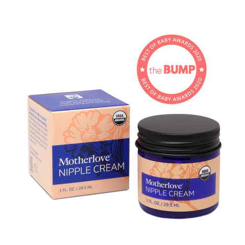 Motherlove Nipple Cream - Herbal salve for sore, damaged, & cracked nursing nipples