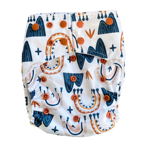 Dream Catcher Pocket Cloth Diaper Set with 1 Hemp Insert and 1 Bamboo Cotton Insert