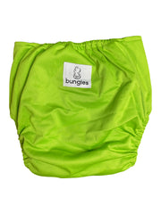 Lime in the Coconut Pocket Cloth Diaper with 1 Hemp Insert and 1 Bamboo Cotton Insert with Snaps - Bungies Diapers