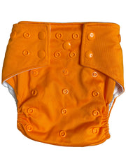 Night Shade & Pumpkin -  Seasonally Inspired Pocket Diaper, Coordinating Solid Diaper and 4 natural Fiber Inserts - OCTOBER - Bungies Diapers