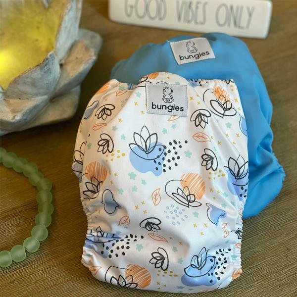 New Beginnings - Seasonally Inspired Pocket Diaper, 2 Natural Fiber Inserts and Coordinating Wetbag - JANUARY 2021 - Bungies Diapers