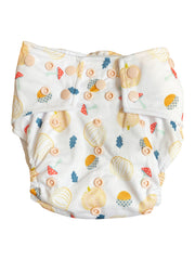 Monthly Bungies Subscription - OPTION 2- Seasonally Inspired Pocket Diaper, Coordinating Solid Diaper and 4 natural Fiber Inserts - Bungies Diapers