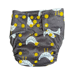 Rise and Shine Pocket Cloth Diaper with 1 Hemp Insert and 1 Bamboo Cotton Insert with Snaps - Bungies Diapers