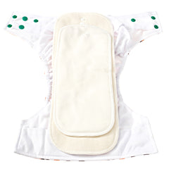 Fall Diaper Pack Solid Colors - 4 Pocket Cloth Diapers Set with 4 Hemp Insert and 4 Bamboo Cotton Inserts - Bungies Diapers