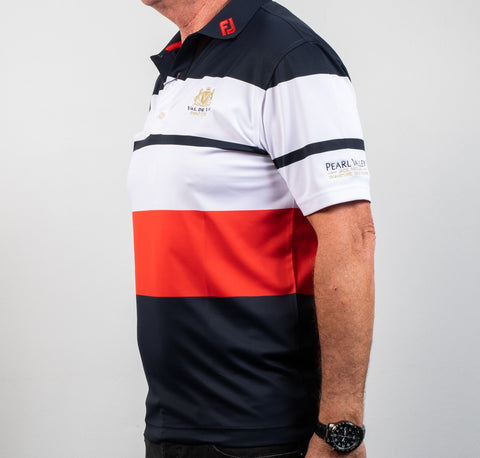 FJ Stretched Pique Color Block Shirt