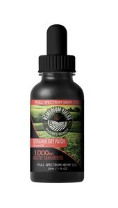 Remedium Fields | Full-Spectrum Hemp CBD Oil | Strawberry Patch Flavour