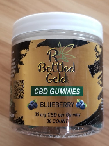 Blueberry CBD Gummies - R Bottled Gold LLC