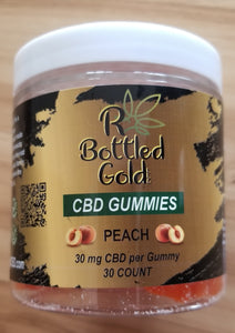 Peach CBD Gummies - R Bottled Gold LLC