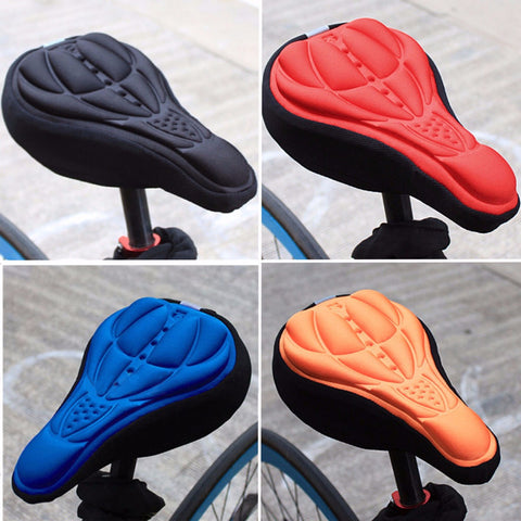 3D GEL Silicone Bike Cycling Extra Comfort Saddle Seat Pad Cushion Cover New