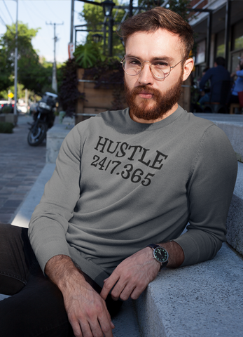 Hustle Harder Charcoal Sweat Shirt