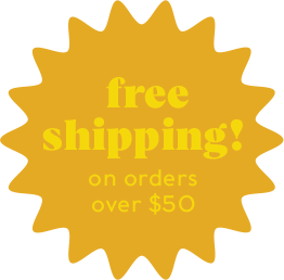 Yellow announcement for free shipping on Fifth & Root orders over $50