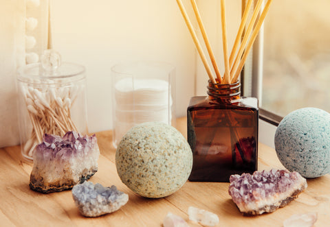 Gather supplies for your Evening Bath Ritual - Fifth & Root