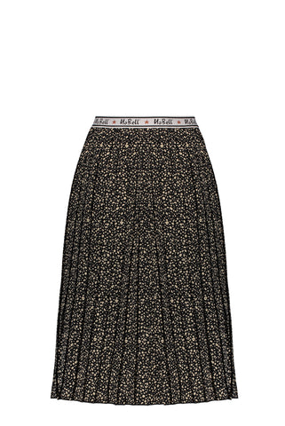 Nobell - NoelB maxi pleated skirt with branded elastic waistband 014 - Jet Black
