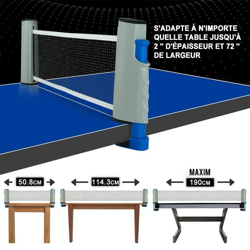 Filet de tennis de table rétractable