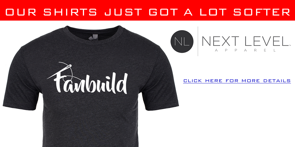 Very excited to announce Fanbuild will be now using Next Level for t-shirts!
