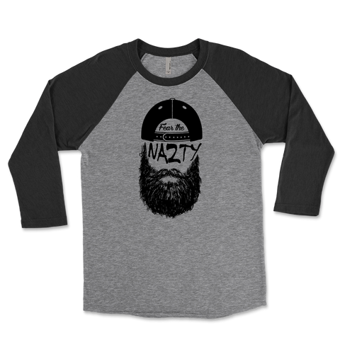 Fear The Chuck Nazty Beard Unisex Triblend Raglan 3/4 Sleeve