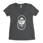 Fear The Chuck Nazty Beard Womens V-Neck