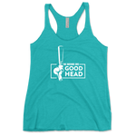 This Bartender Gives Good Head Adult Humor Womens Tri-Blend Racerback Tank