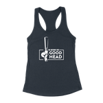 This Bartender Gives Good Head Adult Humor Womens Racerback Tank Top