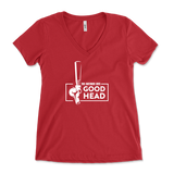This Bartender Gives Good Head Adult Humor Womens V-Neck
