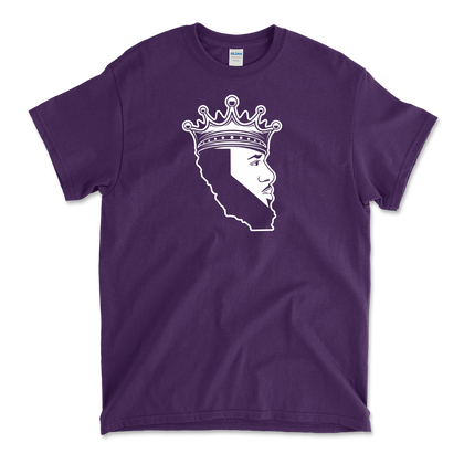 King Of Los Angeles, California Beard Mens Heavy Cotton T-Shirt