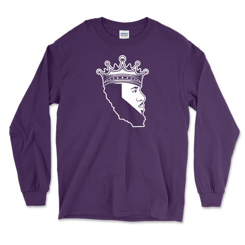 King Of Los Angeles, California Beard Mens Long Sleeve