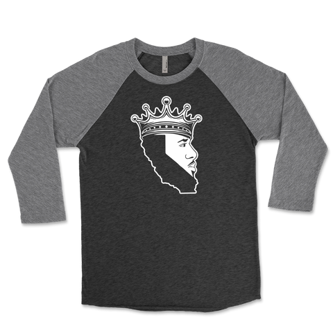 King Of Los Angeles, California Beard Unisex Triblend Raglan 3/4 Sleeve