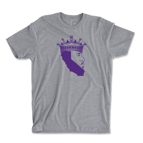 King Of Los Angeles, California Beard Youth Ringspun T-Shirt