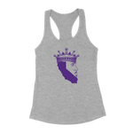 King Of Los Angeles, California Beard Womens Racerback Tank Top