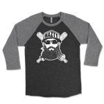 Fear The Nazty Beard Baseball Unisex Triblend Raglan 3/4 Sleeve