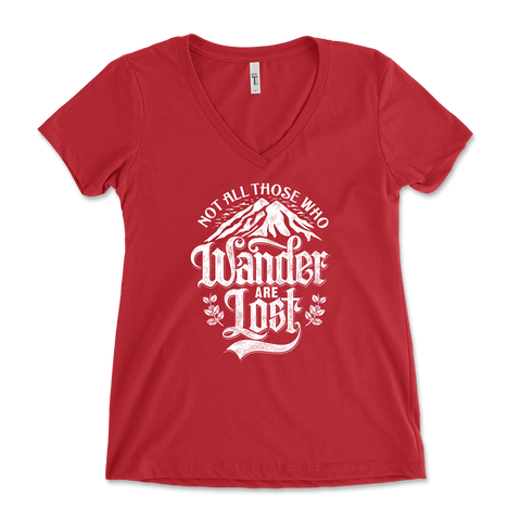 Not All Those Who Wander Are Lost Womens V-Neck