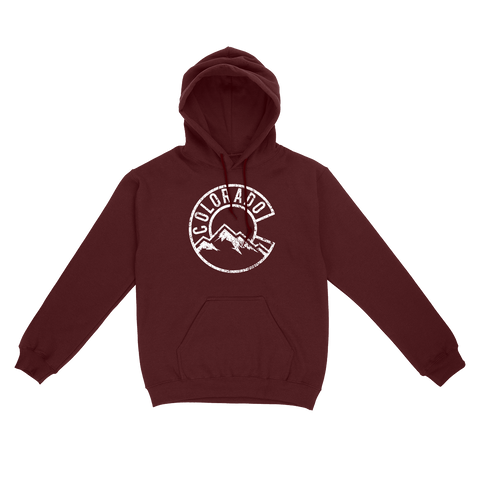 Vintage Colorado Mountains Unisex Pullover Hoodie