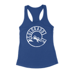 Vintage Colorado Mountains Womens Racerback Tank Top