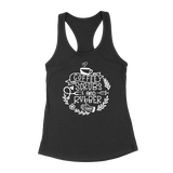 Nurse Life - Coffee, Scrubs And Rubber Gloves Womens Racerback Tank Top