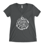 Nurse Life - Coffee, Scrubs And Rubber Gloves Womens V-Neck