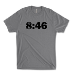 8:46 No Justice No Peace Black Lives Matter Mens Triblend T-Shirt