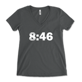 8:46 No Justice No Peace Black Lives Matter Womens V-Neck