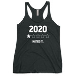 Year 2020 1 Star Rating - Hated It Womens Tri-Blend Racerback Tank