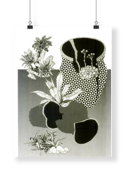 "Some day plants will cover everything  - Alicia Nauta - Screenprint  18"" x 24"""