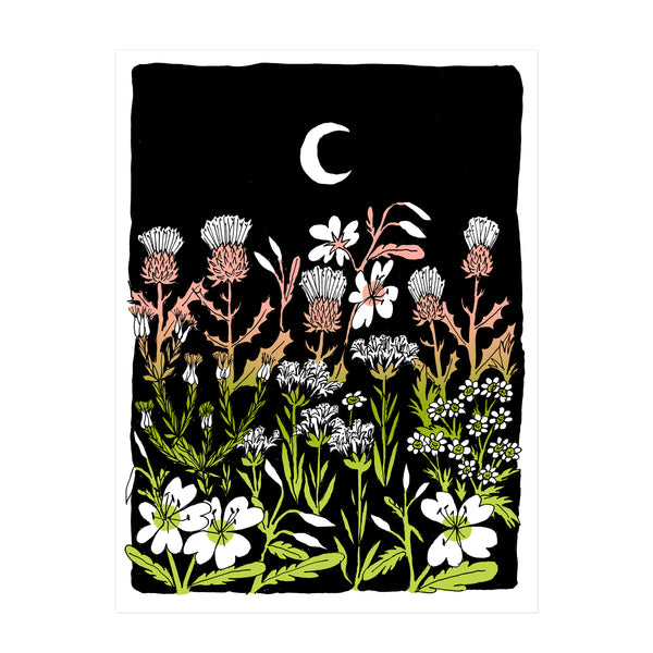 Lazy Old Moon Screen print - Liana Jegers